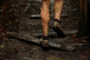 muddy running
